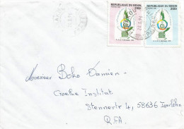 Benin 1996 Parakou Francophony Summit 150f Michel 716 200f Michel 717 Cover - Benin – Dahomey (1960-...)