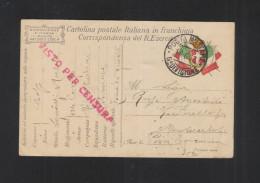 Cartolina Posta Militare 6. Divisione 1917 - 1900-44 Victor Emmanuel III.