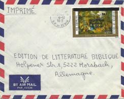 Benin 1988 Cotonou Le Brun 50f Overprint On 140f Michel L473 Cover - Benin – Dahomey (1960-...)