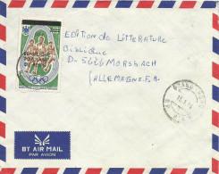 Benin 1986 Grand Popo Olympic Games Munich 90f Overprint On 20f Michel 411 Cover - Benin – Dahomey (1960-...)