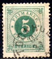 SWEDEN 1872 Numeral -  5ore - Green  FU - Oblitérés