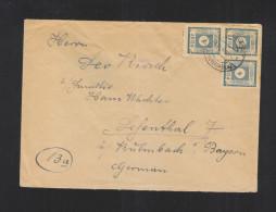 Ost-Sachsen Brief 3er Einheit 1945 - Sowjetische Zone (SBZ)