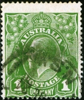 AUSTRALIA, 1922, RE GIORGIO V, FRANCOBOLLO USATO