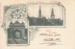 Oude Kaart Groeten Uit Hulst (1902) - Hulst