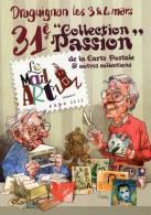 XXXIÉME SALON DE DRAGUIGNAN  ILLUSTRATEUR M CROSA  MAIL ART - Collector Fairs & Bourses