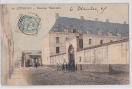 BERGUES (Nord) - Caserne Themines - Cpa 1905 Colorisée - Bergues
