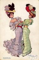 MATTCHICHE - DEUX FEMMES De BELLE ÉPOQUE / DANSE ? - ILLUSTRATION : SCHÖNPFLUG / SCHOENPFLUG - B.K.W.I. 451-2 (q-794) - Schoenpflug, Fritz