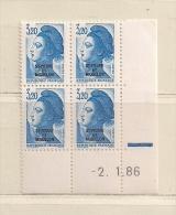 SAINT PIERRE ET MIQUELON ( D16 - 4724 )  1986  N° YVERT ET TELLIER  N  466    N**    COIN DATE - Neufs