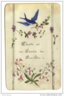 Image Pieuse Celluloid Peint  1896 Gouache - Religion & Esotericism