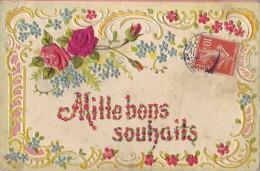 Carte Gaufrée - Mille Bons Souhaits - Fêtes - Voeux