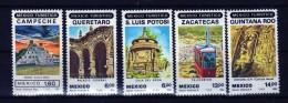 R 644  Mexico Turistico  1983   Nuevos Con Goma No Fijasello - Mexique
