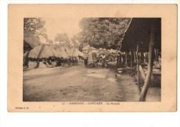 C P A--AFRIQUE      DAHOMEY--GODOMEY--le Marché-voir 2 Scans - Dahomey