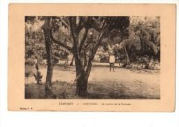C P A--AFRIQUE   DAHOMEY--COTONOU--le Jardin De La Douane--voir 2 Scans - Dahomey