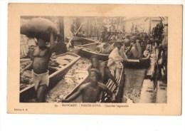 C P A--AFRIQUE    DAHOMEY-PORTO NOVO--quartier Lagunaire--voir 2 Scans - Dahomey