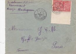 MADAGASCAR   LETTRE CURIOSITE - Madagascar (1889-1960)
