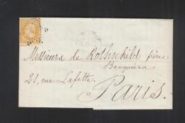 Lettre 1857 Paris - Poststempel (Briefe)