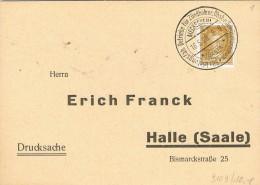 BR 121 DUITSE REICH  MECKESHEIM 18.5.28 BADEN NAAR HALLE  SAALE - Allemagne