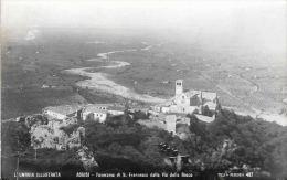 [DC5836] CARTOLINA - ASSISI - L´UMBRIA ILLUSTRATA - PANORAMA DI S. FRANCESCO DALLA VIA DELLA ROCCA - NV - Old Postcard - Italy