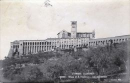 [DC5837] CARTOLINA - ASSISI - L´UMBRIA ILLUSTRATA - PANORAMA DI S. FRANCESCO LATO MERIDIONALE - Viaggiata - Old Postcard - Italy