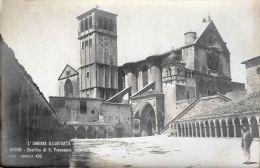 [DC5838] CARTOLINA - ASSISI - L´UMBRIA ILLUSTRATA - BASILICA DI S. FRANCESCO ESTERNO - Non Viaggiata - Old Postcard - Italy