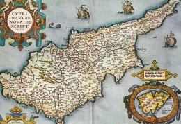 Map Of Cyprus. UN Cachet.  Dancon - Unficyp.  B-2089 - Cyprus