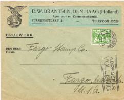 10793. Carta Drukwert DEN HAAG (Holland) 1926. Fechador Gravenhage - 1891-1948 (Wilhelmine)