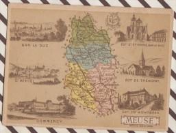 4AG1653 CHROMO HACHETTE Géographique + Vues Département  MEUSE BAR LE DUC COMMERCY TREMONT - Géographie