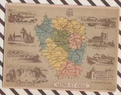 4AG1654 CHROMO HACHETTE Géographique + Vues Département SEINE ET OISE ETAMPES MANTES PONTOISE - Géographie