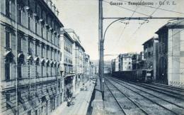 Genova: Sampierdarena Via Vittorio Emanuele Treno Train - Genova (Genoa)