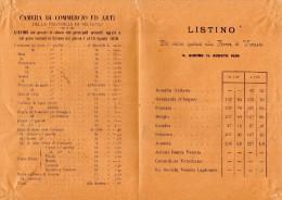 1896  BELLUNO LISTINO PREZZI - Italia
