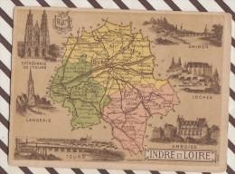 4AG1655 CHROMO HACHETTE Géographique + Vues Département  INDRE ET LOIRE LOCHES AMBOISE TOURS LANGEAIS - Géographie
