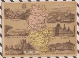 4AG1656 CHROMO HACHETTE Géographique + Vues Département RHONE LYON ST DIDIER - Géographie