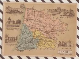 4AG1657 CHROMO HACHETTE Géographique + Vues Département  LANDES AIRE DAX ST SEVER MT DE MARSAN - Géographie