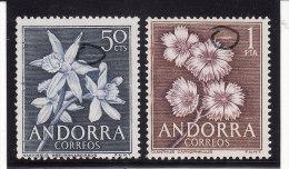 Andorre Espagnol 1966 - N° 61 Et 62 - Variété : Trait De Lumière (Lire Description) (Lot 62) - Ongebruikt