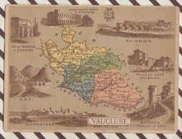 4AG1660 CHROMO HACHETTE Géographique + Vues Département  VAUCLUSE AVIGNON ORANGE APT CARPENTRAS - Géographie