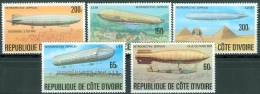 Ivory Coast 1977 History Of The Zeppelin. MNH** - Lot. 3235 - Côte D'Ivoire (1960-...)