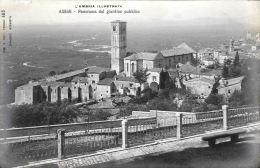 [DC5845] CARTOLINA - ASSISI - L´UMBRIA ILLUSTRATA - PANORAMA DEL GIARDINO PUBBLICO - Non Viaggiata - Old Postcard - Italy