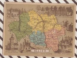 4AG1661 CHROMO HACHETTE Géographique + Vues Département  ALLIER MOULINS VICHY MONTLUCON - Géographie