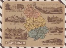 4AG1662 CHROMO HACHETTE Géographique + Vues Département  HAUTE MARNE LANGRES BOURMONT Coin Coupé - Géographie
