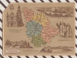 4AG1663 CHROMO HACHETTE Géographique + Vues Département VIENNE POITIERS LA PREVOTE Coin Coupé - Géographie