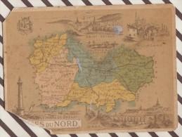 4AG1664 CHROMO HACHETTE Géographique + Vues Département COTES DU NORD  GUINGAMP ST BRIEUC Abimé - Géographie