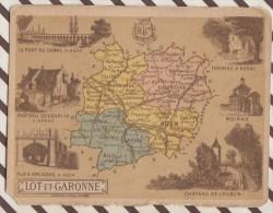4AG1665 CHROMO HACHETTE Géographique + Vues Département LOT ET GARONNE MOIRAX AGEN NERAC - Géographie