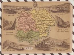 4AG1666 CHROMO HACHETTE Géographique + Vues Département VAR TOULON FREJUS STE BAUME HYERES - Géographie