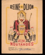 """PROTÈGES CAHIERS ILLUSTRÉES""""REINE Des MOUTARDES De DIJON - Protège-cahiers"""