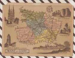 4AG1668 CHROMO HACHETTE Géographique + Vues Département MAINE ET LOIRE ANGERS SAUMUR PONT DE CE - Géographie