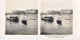 PS19 Photo Collection Stéréoscopique Galactina -N°29 Geneve Vue Jetee Bateau -lait Alpes Suisses -NPG 1906 - Photos Stéréoscopiques