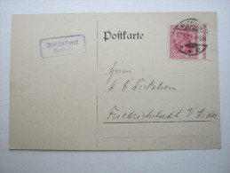 1919, Husum , 10 Pfg. Germania,  Randstück  , Firmenkarte - Brieven En Documenten