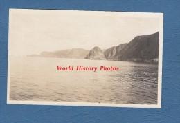 Photo Ancienne - A Bord D'un Bateau - Sortie Du Hardangerfjord Hardanger Fjord - Norvege Norge - Bateaux