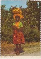Ile Aux épices,antilles,ile De Grenade,grenada,trinité Et Tobago,the Sunny Caribbean Colorful Fruit Vendor,rare ,banane - Cartes Postales