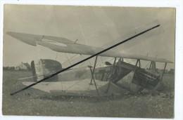 Carte Photo  Avion Accidenté- Mlle Patoche - Accidents